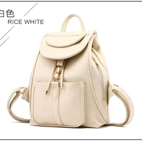 VC85464 IDR.166.000 MATERIAL PU SIZE L28XH32XW14CM WEIGHT 700GR COLOR BEIGE (RANSEL)