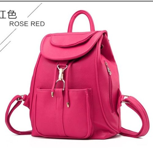 VC85464 IDR.166.000 MATERIAL PU SIZE L28XH32XW14CM WEIGHT 700GR COLOR ROSE (RANSEL)